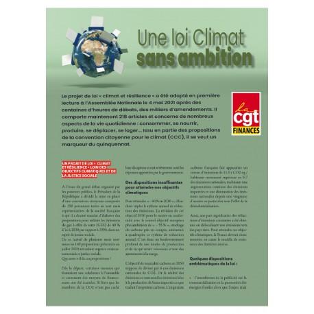 4 pages - Une loi climat  sans ambition