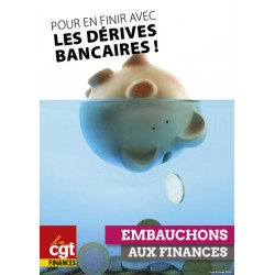"""Affiche """"Dérives bancaires"""""""